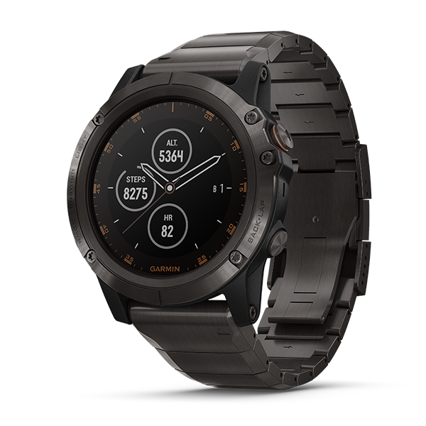 Đồng hồ Garmin fēnix® 5 Plus, Carbon Gray DLC Titanium with DLC Titanium Band