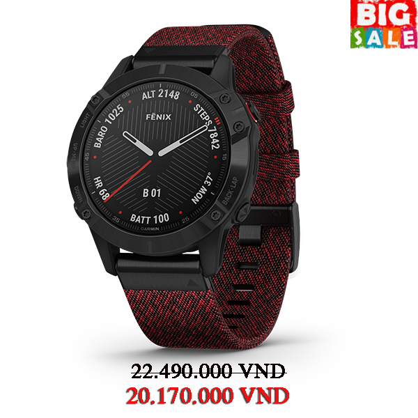 dong-ho-fenix-6-sapphire--black-dlc-with-heathered-red-nylon-band