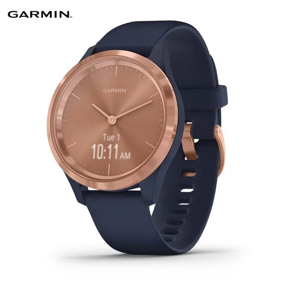 garmin-vivomove-3s,-navy-/-rose-gold