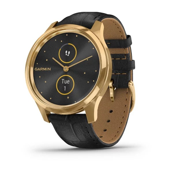 garmin-vivomove-luxe,-black-embossed-leather-/-24k-gold-pvd