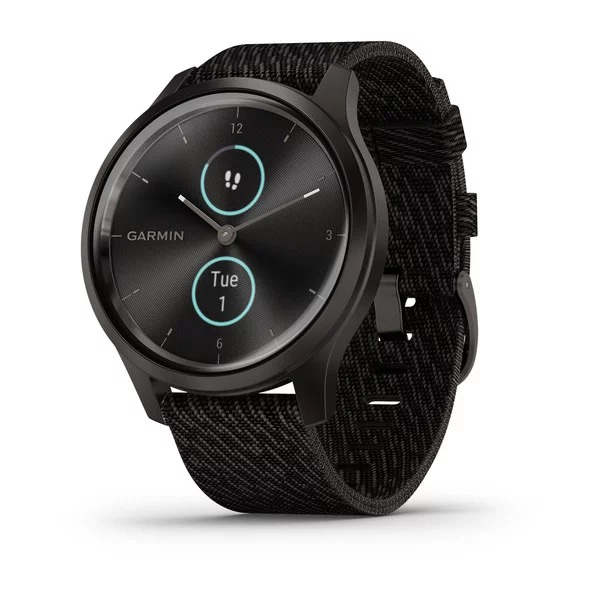 garmin-vivomove-style,-black-pepper-nylon-/-graphite-aluminum