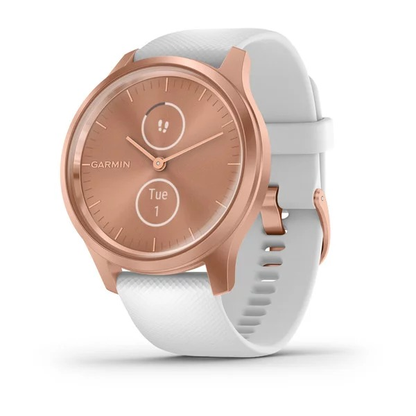 garmin-vivomove-style,-white-/-rose-gold